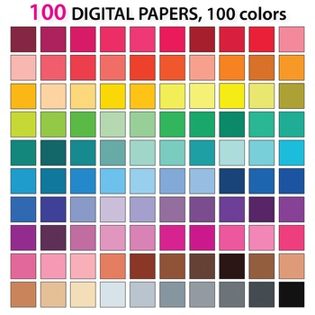 FREE Solid Digital Papers - Background Papers 100
