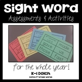 #schoolsavings 1st Grade Sight Word Unit- Entire Year- K-1 Dolch Words