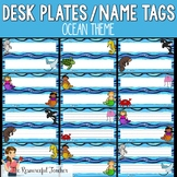Desk Plates / Name Tags - Ocean Theme