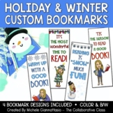 Holiday Bookmarks   Winter Bookmarks   Student Gifts   Customize with Avatar