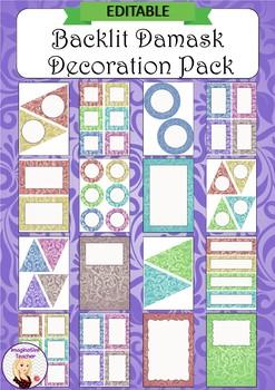 Editable Decoration Pack - Backlit Damask