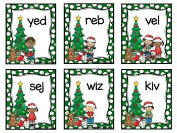 Christmas Nonsense Word Fluency RTI Resource Pack