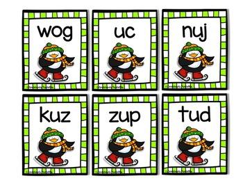 Blackout Bingo CHRISTMAS NWF RTI Resource by Ms. Lendahand (Penguin Theme)