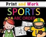 ABC Order Worksheets