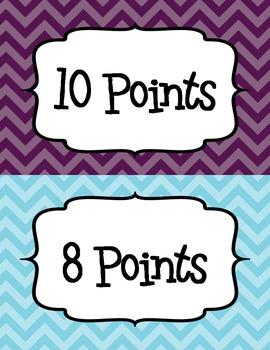 Accelerated Reader (AR) Points Club Clip Chart - EDITABLE!  - Chevrons