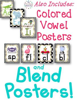 Alphabet Posters, Bunting & Worksheets {BLACK & WHITE POLKA DOT}