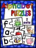 Alphabet Centers (Alphabet Matching Beginning Sounds Puzzles)