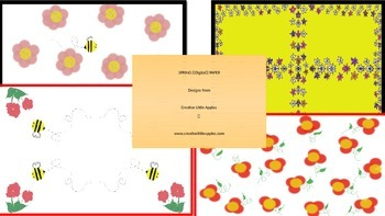 April - Spring Flowers - Digital Paper