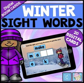 BOOM CARDS ELA Winter Sight Words