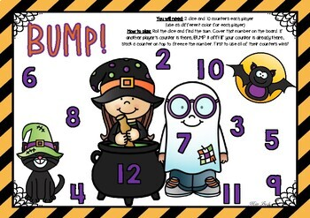 BUMP! Halloween Theme Game Board