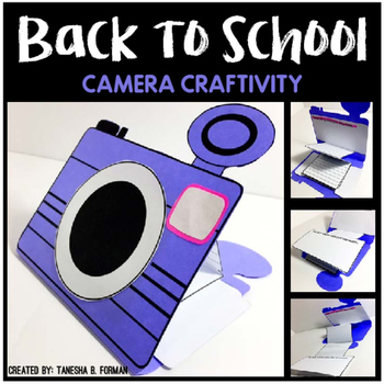 Beginning of the Year: Camera Craftivity