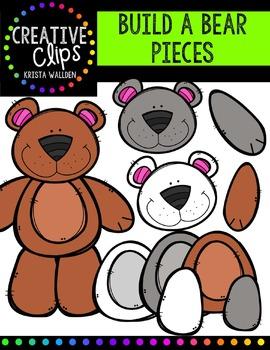 Build a Bear Pieces {Creative Clips Digital Clipart}