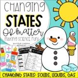 FLASH FREEBIE!!!   Changing States of Matter Worksheets an