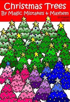Christmas Clip Art- Christmas Trees