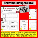 Christmas Coupons -- Editable