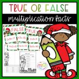 Christmas True or False Multiplication Facts Sort