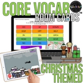 Core Vocabulary Boom Cards™ for Speech Therapy: Christmas Theme