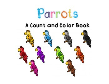 Adapted Count and Color Book: Parrots