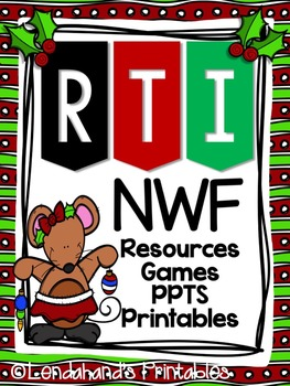 Christmas Nonsense Word Fluency R.T.I. Resource Pack  (Mouse Theme)