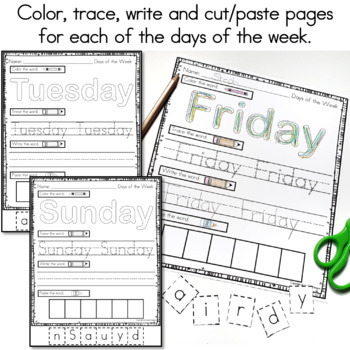 Days of the Week and Months of the Year Printables
