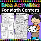 Dice Game & Activities ~ Worksheets for Math Centers ~ Rol