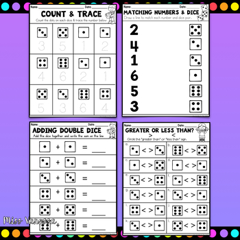 Dice Activities for Math Centers