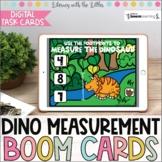 Dino Measurement BOOM Cards | Digital Task Cards | Distanc