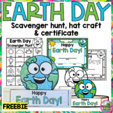 FLASH FREEBIE Earth Day Hat, Scavenger Hunt and Certificate No Prep Activities