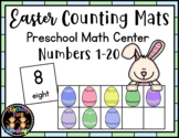 Easter Counting Mats Preschool Math Center Activity (Numbers 1-20)