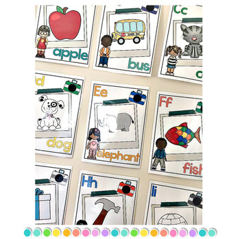 Editable Alphabet Posters: Color and Black and White
