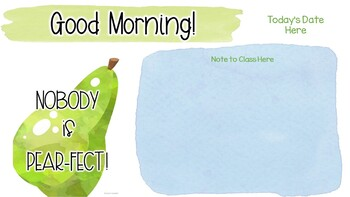 Editable Morning Message - Fruity Classroom Decor
