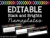 Editable Nameplates (Black and Brights)