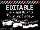 Editable Nameplates (Black and Brights)