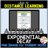 FLASH FREEBIE! Exponential Decay Notes Image for Algebra D