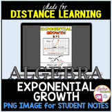 FLASH FREEBIE! Exponential Growth Notes Image for Algebra