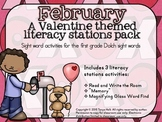 February Literacy Stations Mini Packet