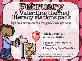 February Literacy Stations Mini Packet