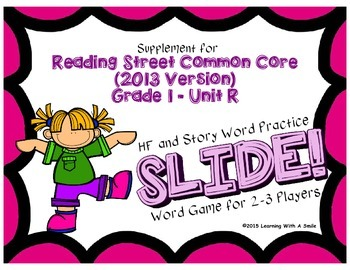 Reading Street First Grade  Unit R No Prep Word Games