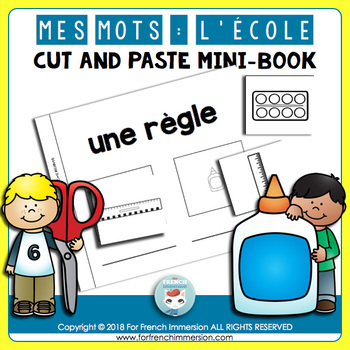 French classroom vocabulary: Cut and Paste Mini-Book | La rentrée