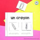 French classroom vocabulary: Cut and Paste Mini-Book   La rentrée