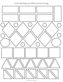 Geometry Easter Egg (No-Prep Art/Math Bulletin Board)