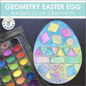 Geometry Easter Egg (No-Prep Art/Math Bulletin Board) #hap