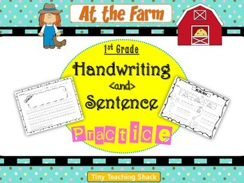 Handwriting and Sentence Practice- At the Farm