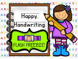 FLASH FREEBIE!!!  Happy Handwriting!  Coloring and Handwri