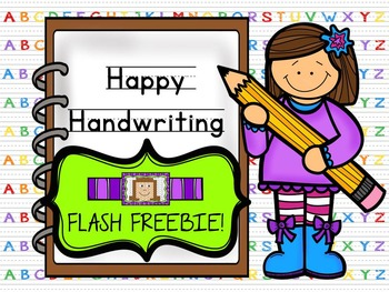 FLASH FREEBIE!!!  Happy Handwriting!  Coloring and Handwri