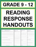 High School Reading Response Questions (Grade 9-12 Bundle)