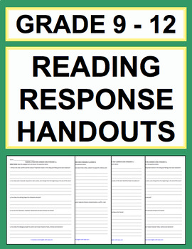 High School Reading Response Questions (Grade 9-12 Bundle)