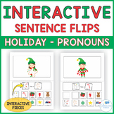 Christmas Theme Interactive Sentence Flips - Pronouns