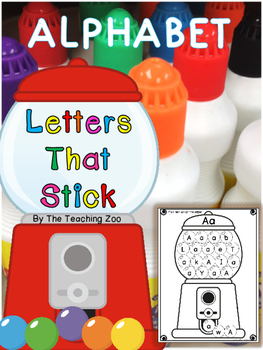 Letters that Stick!  Stamping Gumballs