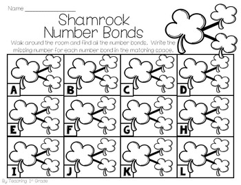 March Number Bonds- Write the Room